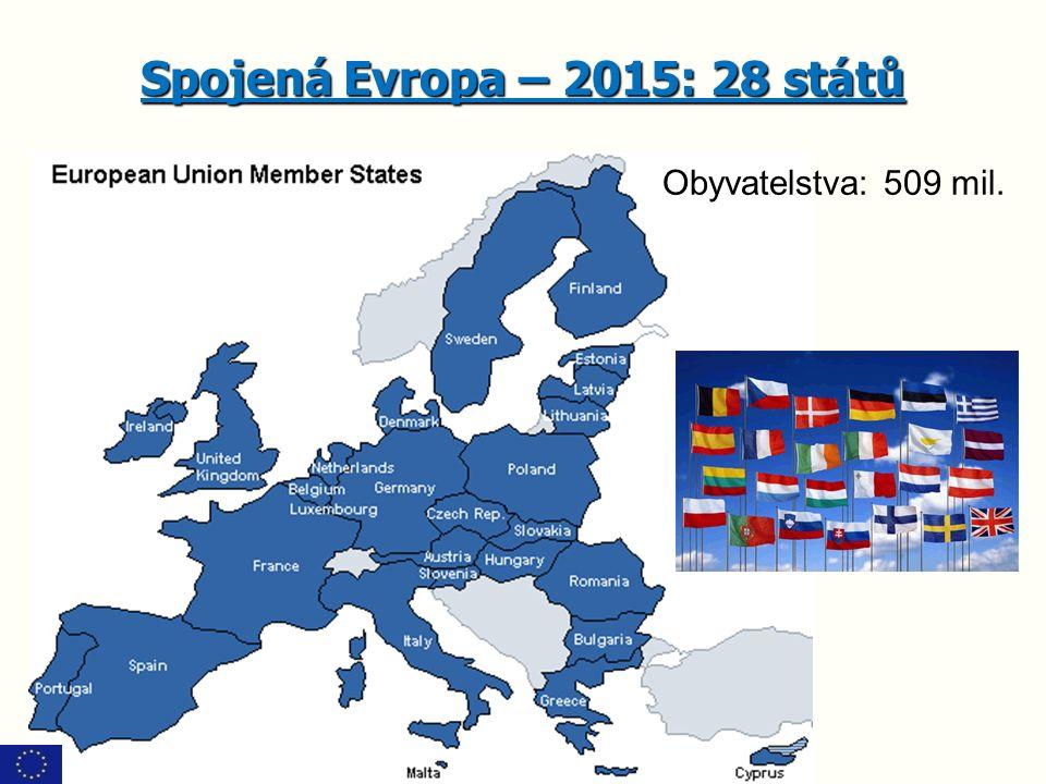 Spojená Evropa – 2015: 28 států