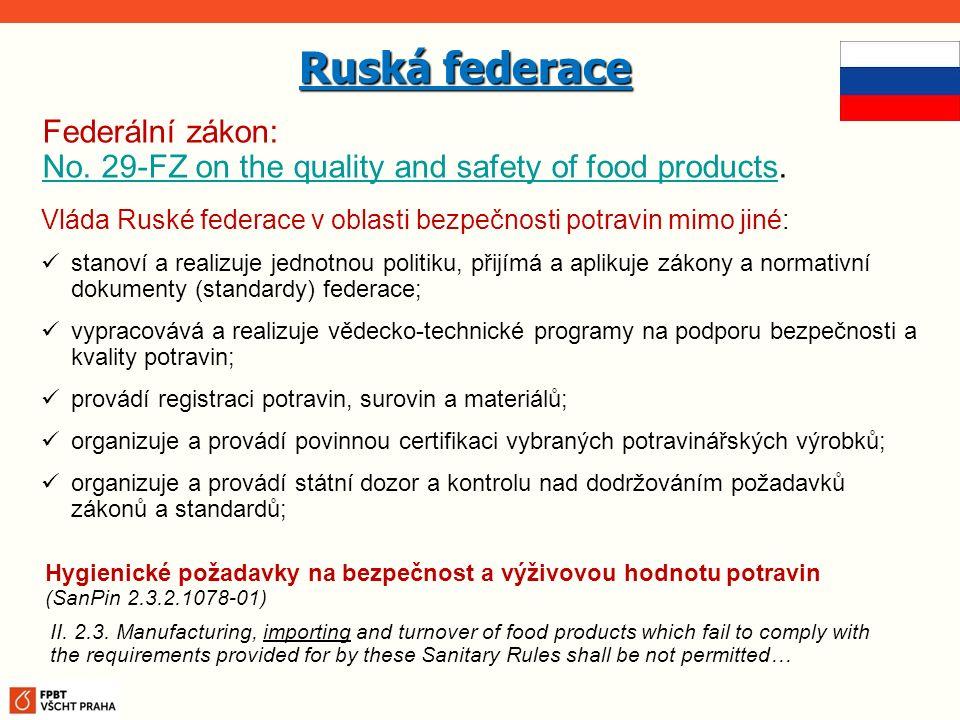 Ruská federace Federální zákon: