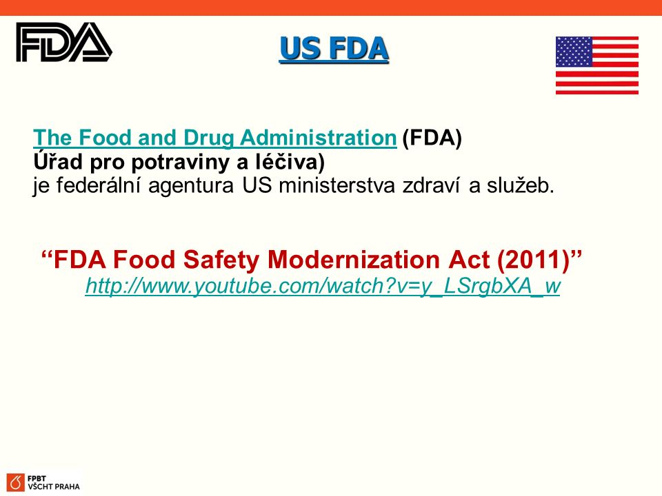 US FDA ''FDA Food Safety Modernization Act (2011)''