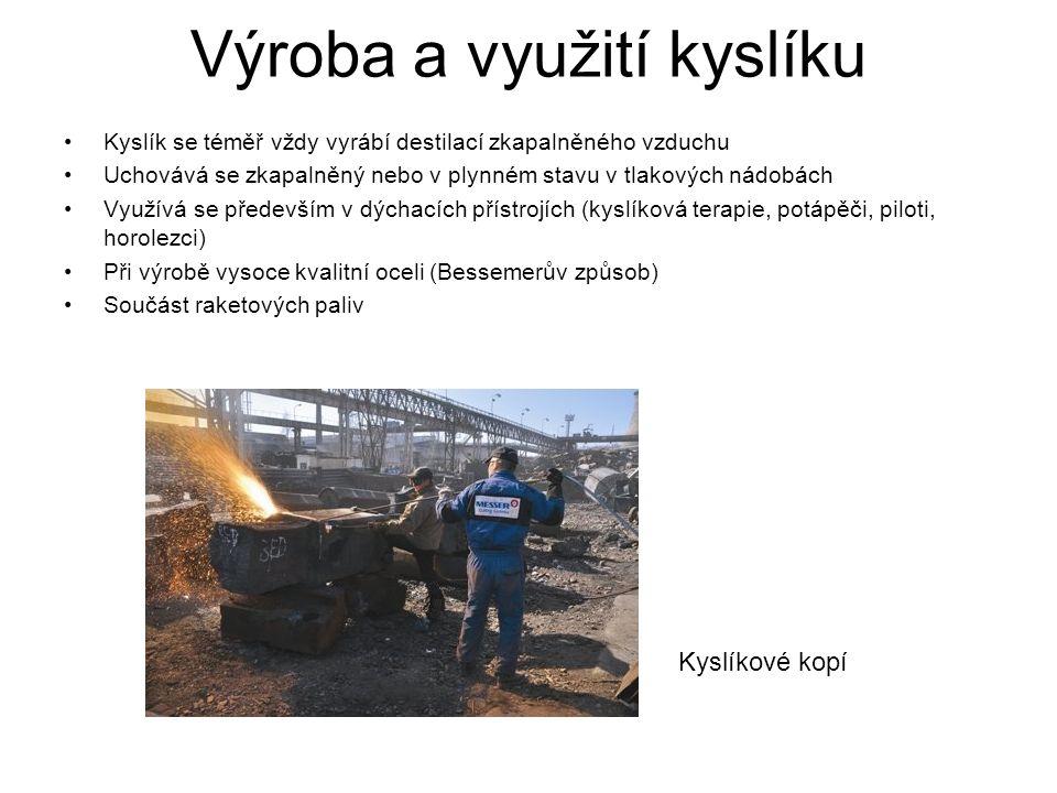 Výroba a využití kyslíku