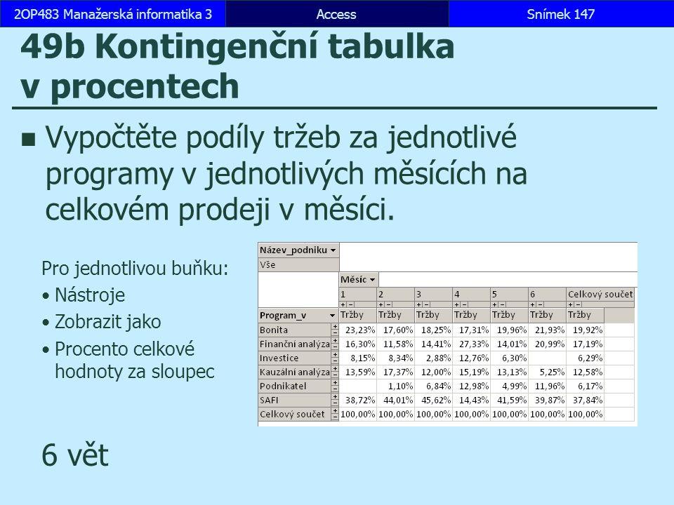 49b Kontingenční tabulka v procentech