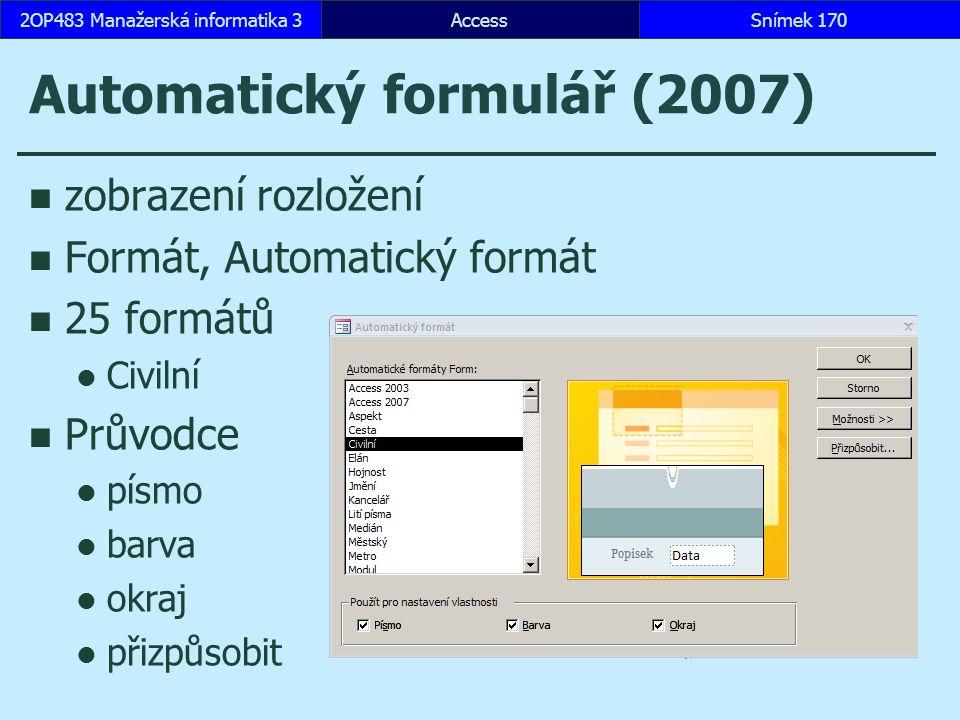 Automatický formulář (2007)