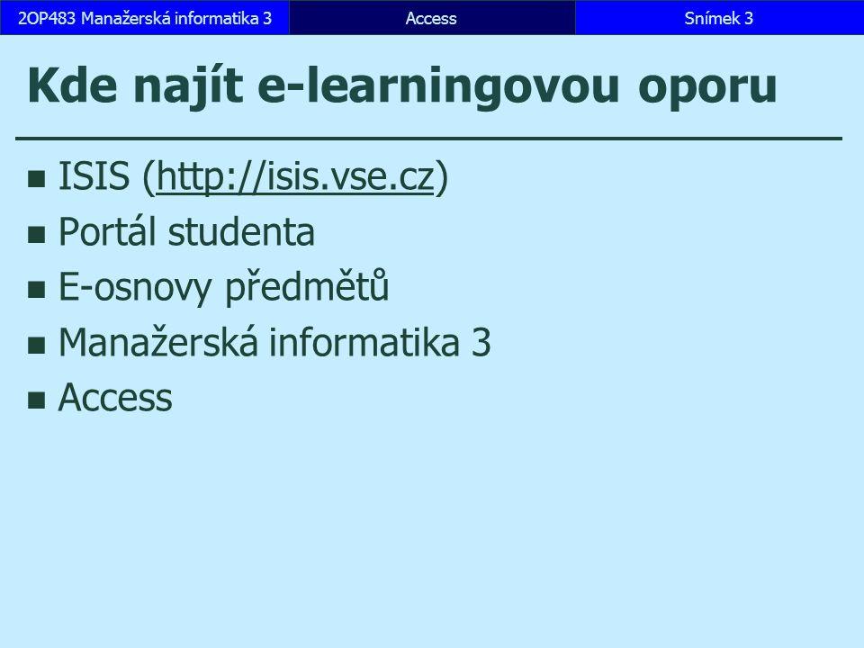 Kde najít e-learningovou oporu