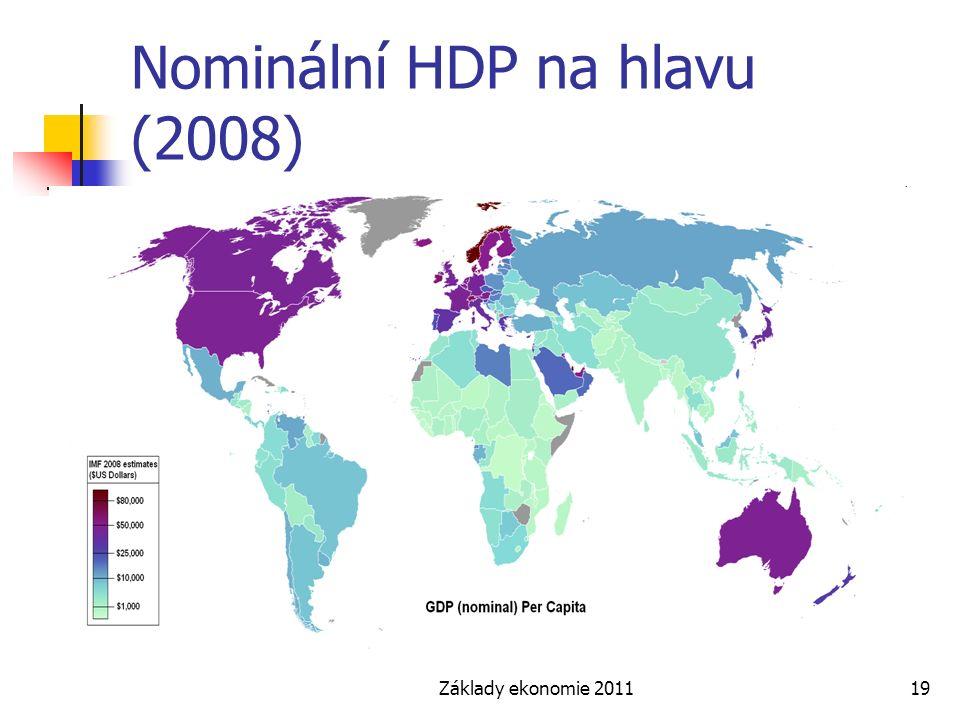 Nominální HDP na hlavu (2008)