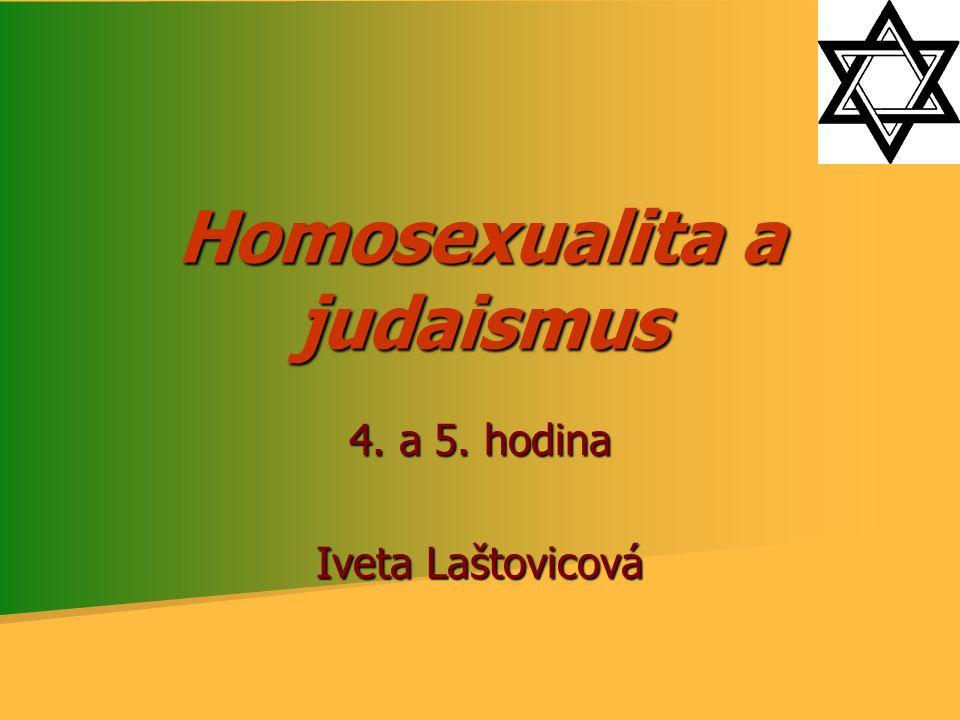Homosexualita a judaismus