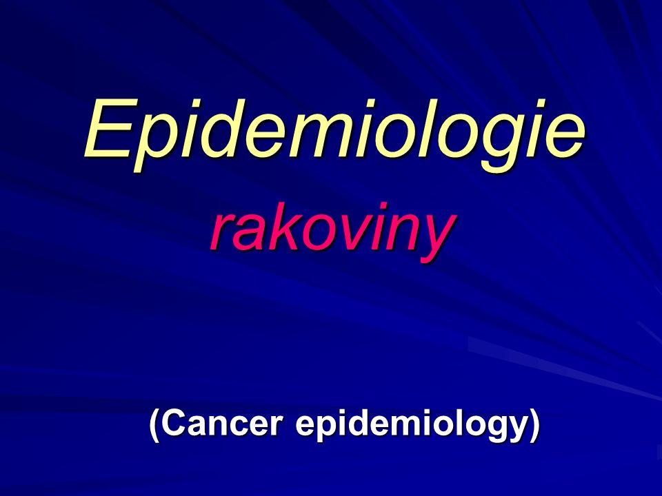 (Cancer epidemiology)