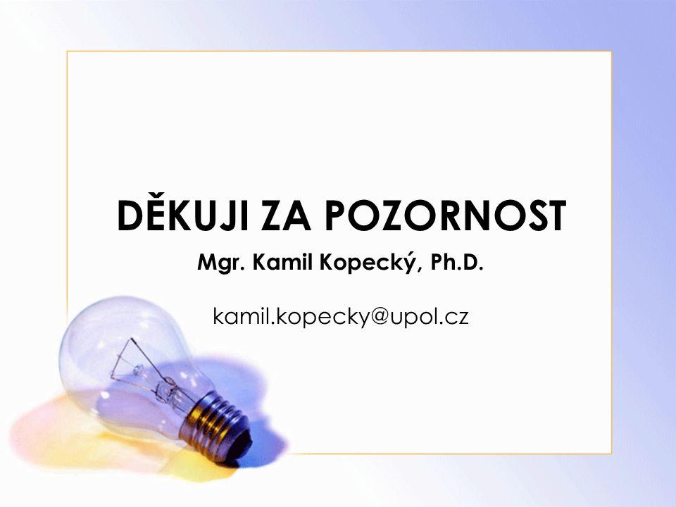Mgr. Kamil Kopecký, Ph.D. kamil.kopecky@upol.cz