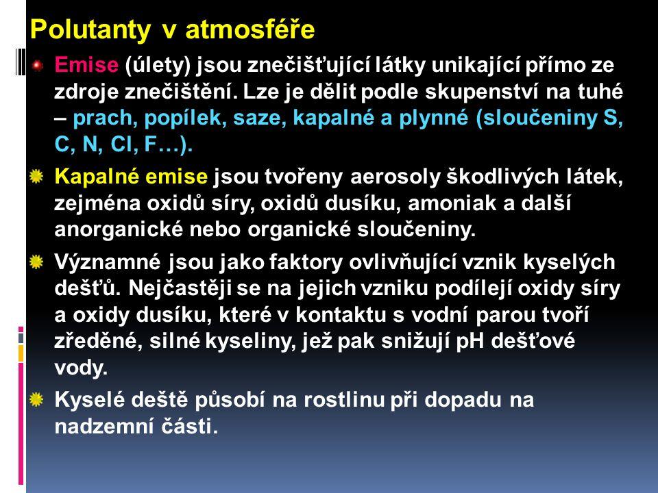 Polutanty v atmosféře