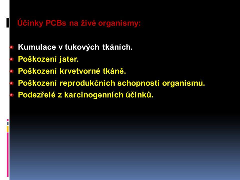 Účinky PCBs na živé organismy:
