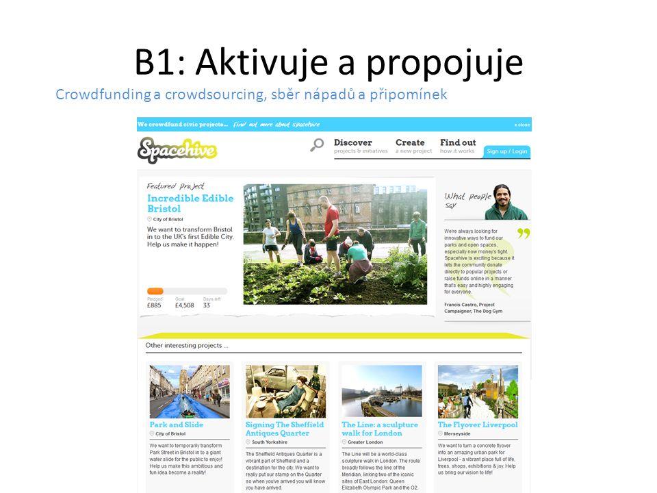 B1: Aktivuje a propojuje