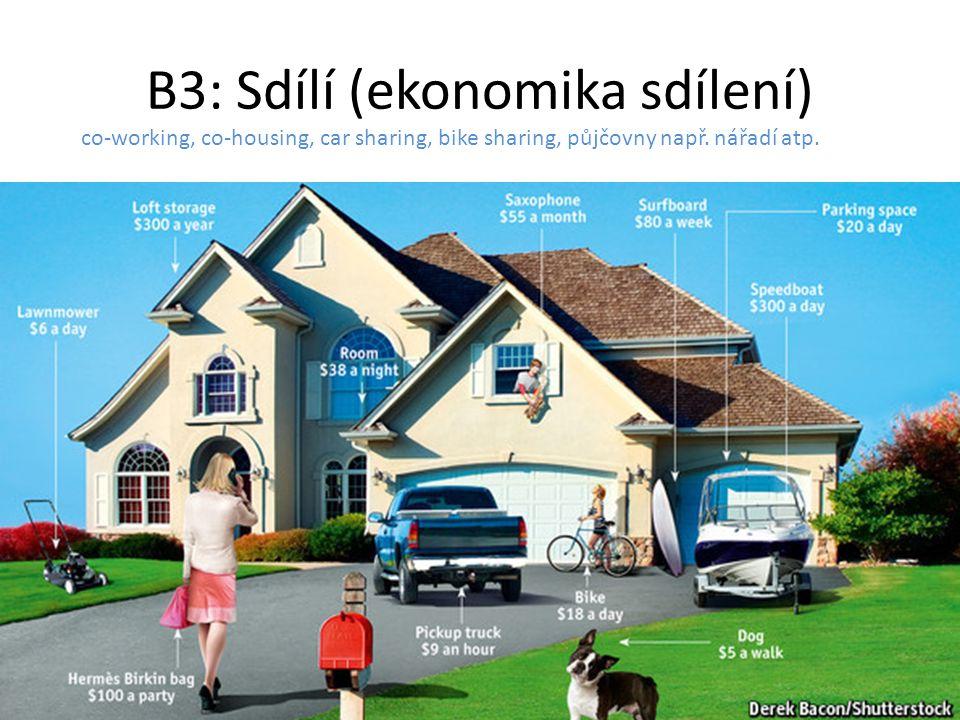 B3: Sdílí (ekonomika sdílení)