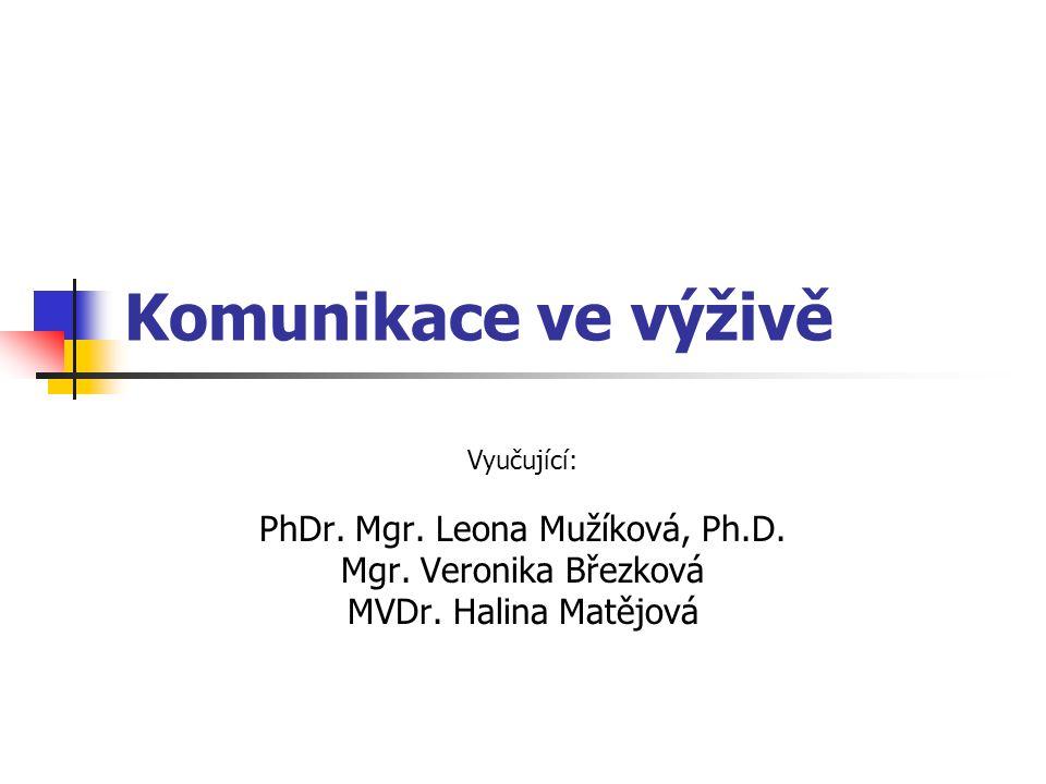 PhDr. Mgr. Leona Mužíková, Ph.D.