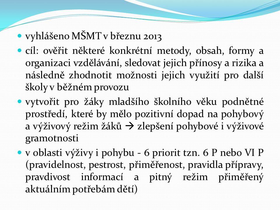 vyhlášeno MŠMT v březnu 2013