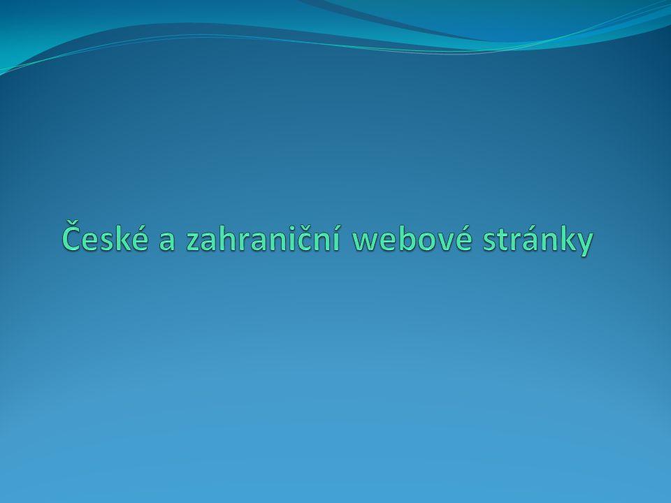 České a zahraniční webové stránky