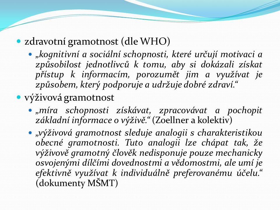 zdravotní gramotnost (dle WHO)