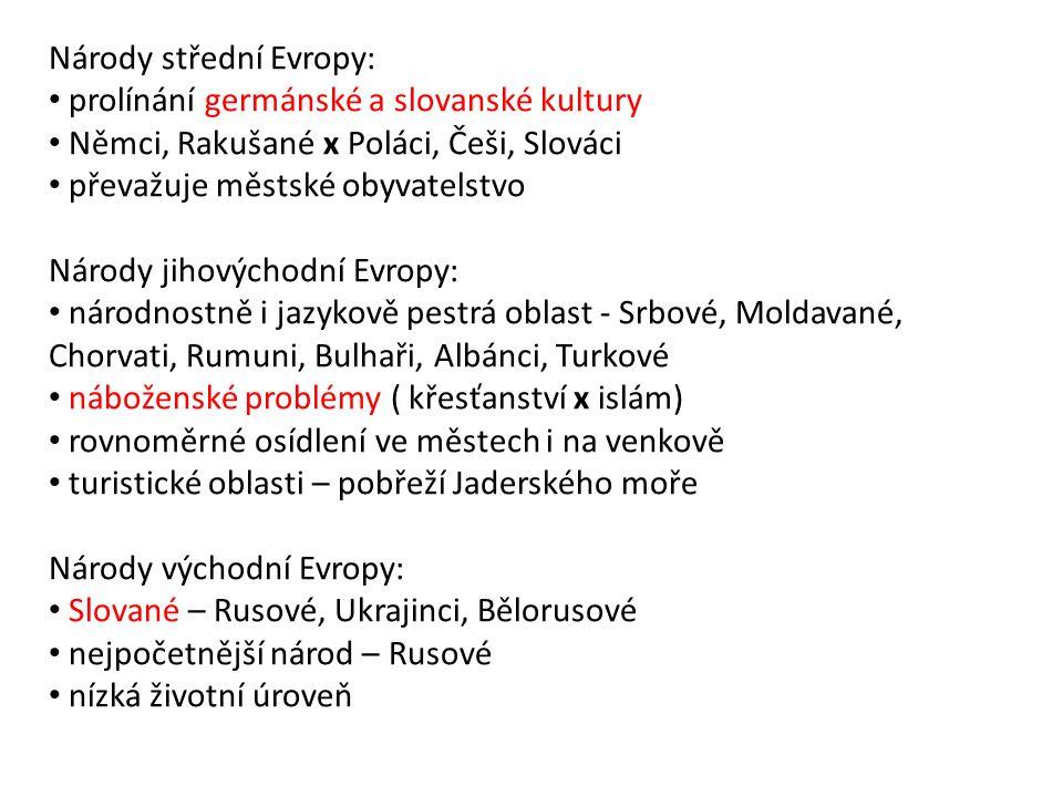 Národy střední Evropy: