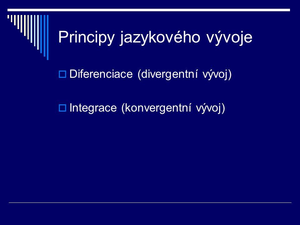 Principy jazykového vývoje