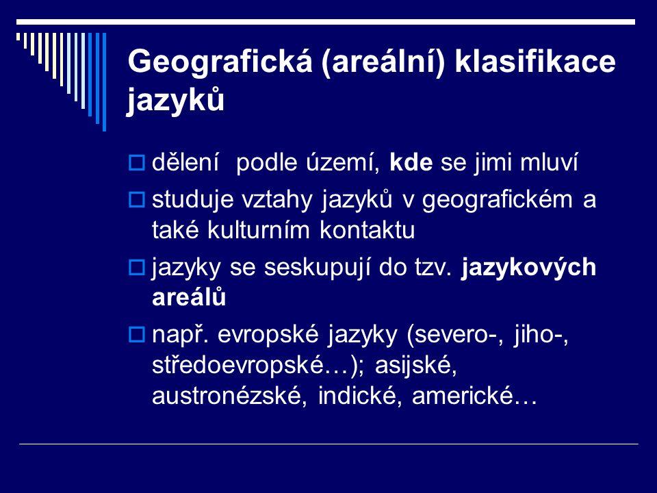 Geografická (areální) klasifikace jazyků