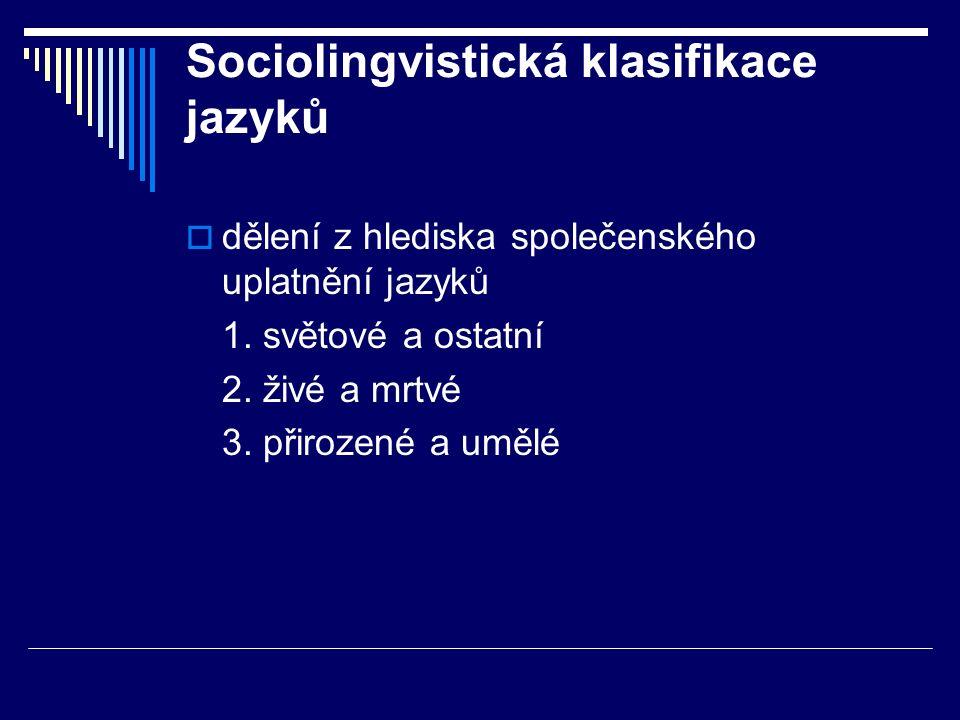 Sociolingvistická klasifikace jazyků