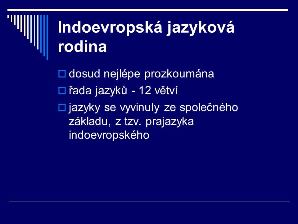 Indoevropská jazyková rodina