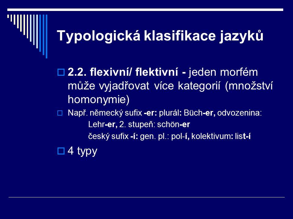 Typologická klasifikace jazyků