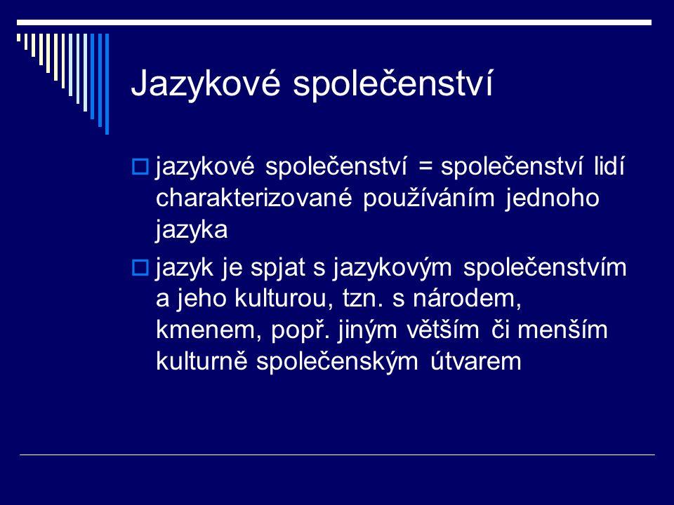 Jazykové společenství