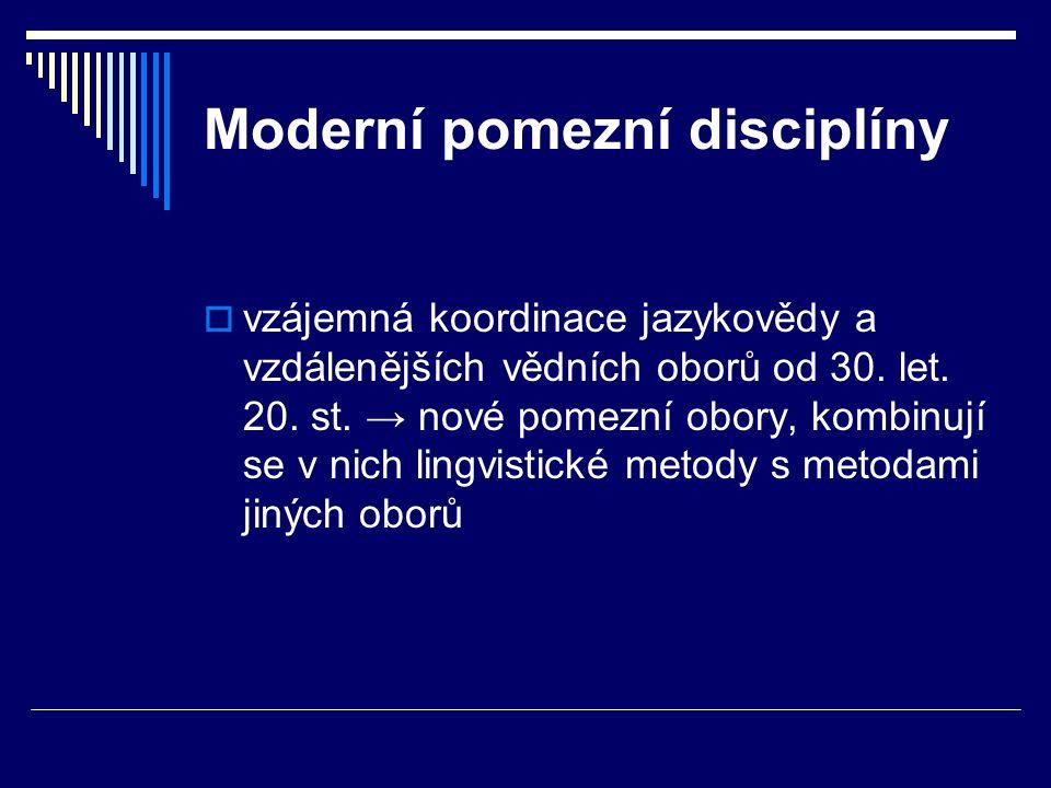 Moderní pomezní disciplíny