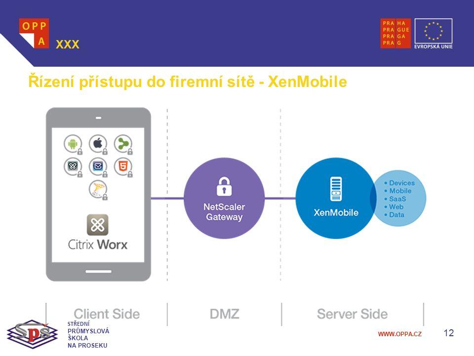 Řízení přístupu do firemní sítě - XenMobile