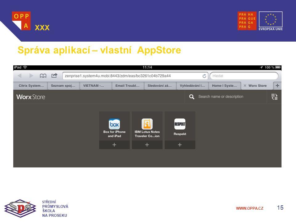 Správa aplikací – vlastní AppStore