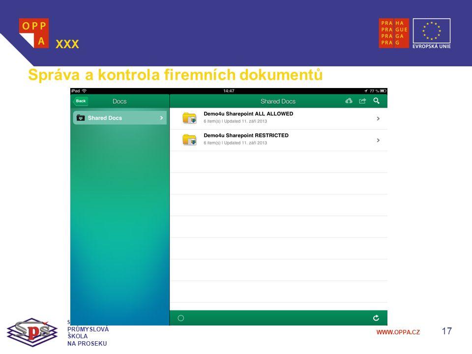 Správa a kontrola firemních dokumentů