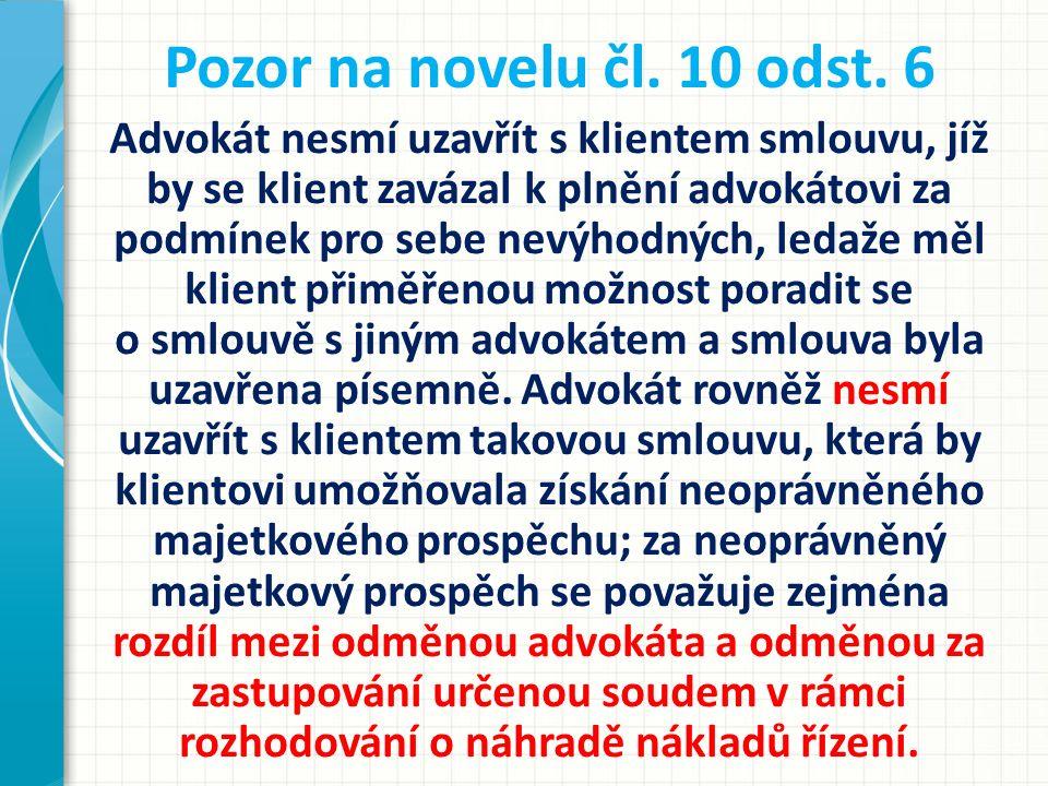 Pozor na novelu čl. 10 odst. 6