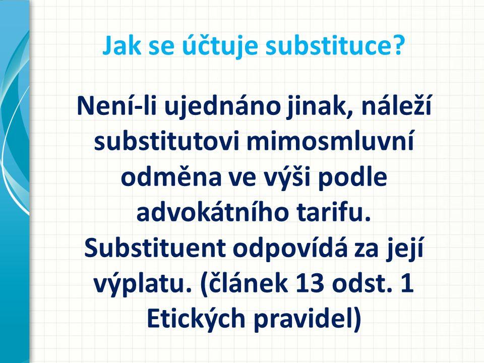 Jak se účtuje substituce