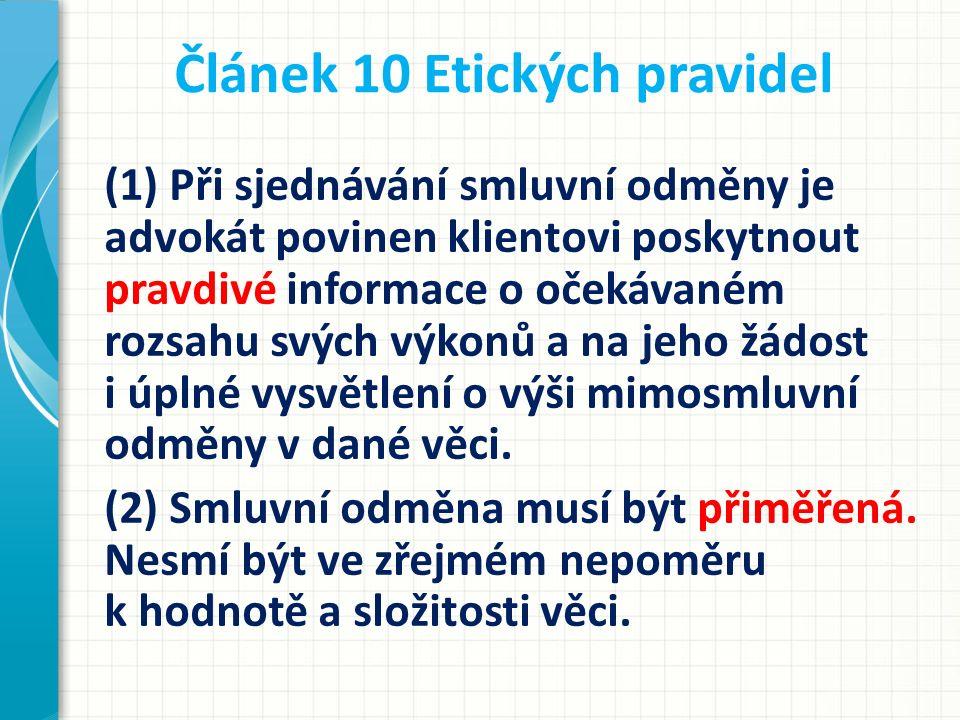 Článek 10 Etických pravidel