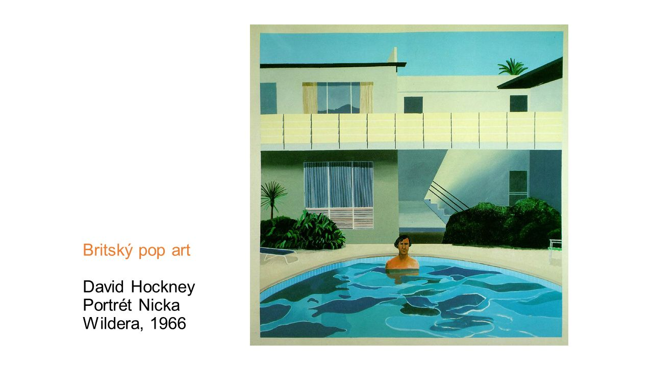 Britský pop art David Hockney Portrét Nicka Wildera, 1966