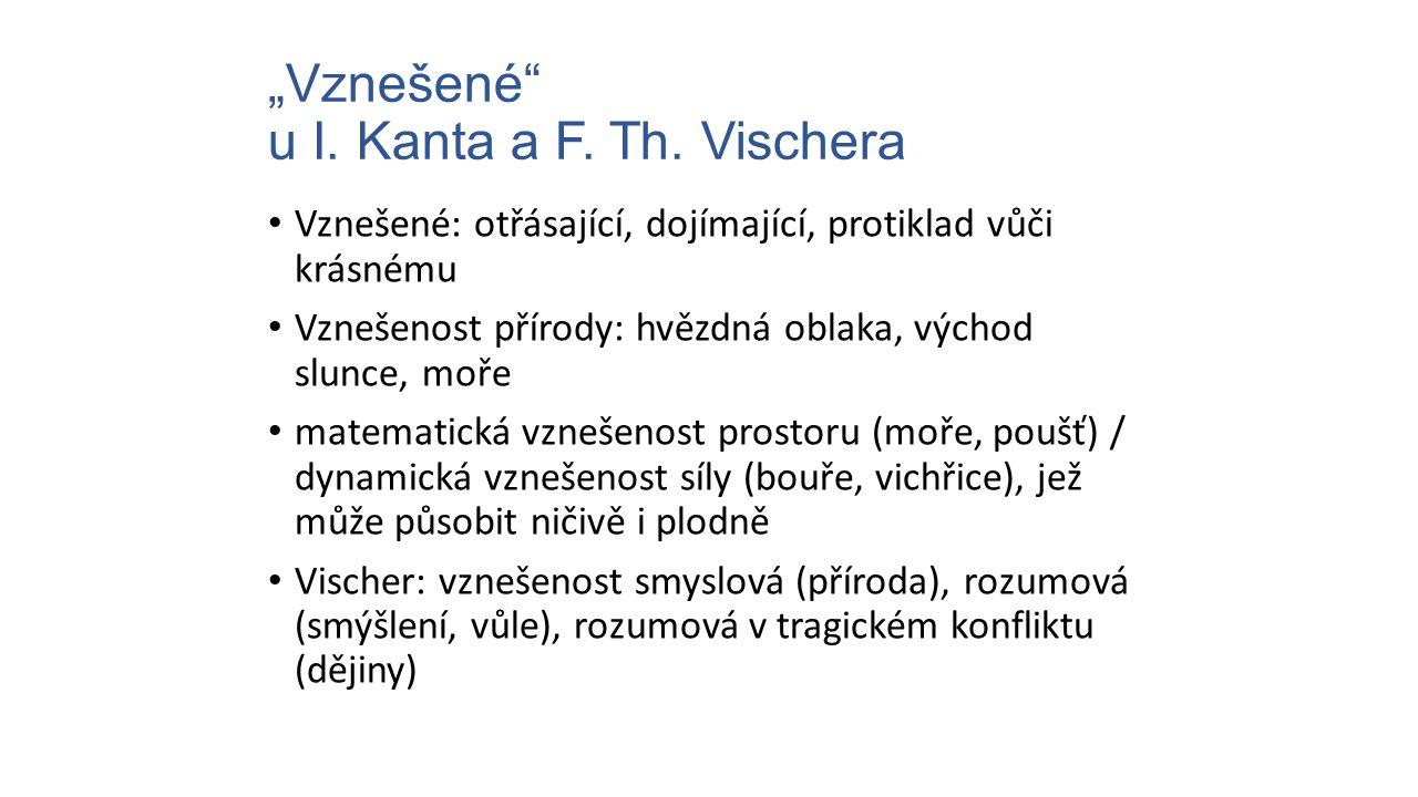 """""""Vznešené u I. Kanta a F. Th. Vischera"""