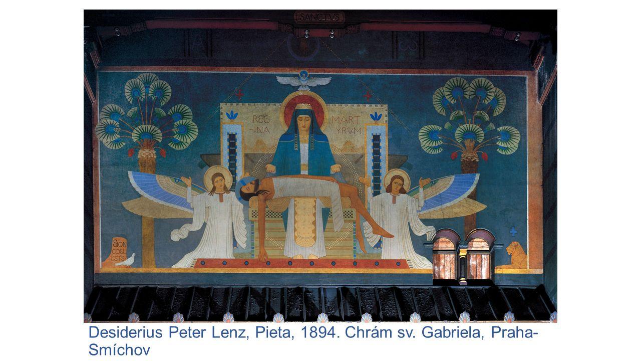 Desiderius Peter Lenz, Pieta, 1894. Chrám sv. Gabriela, Praha-Smíchov