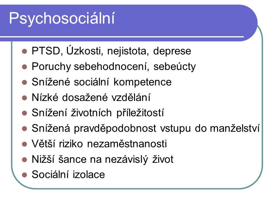 Psychosociální PTSD, Úzkosti, nejistota, deprese