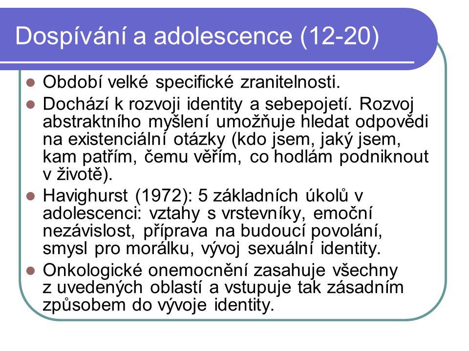 Dospívání a adolescence (12-20)
