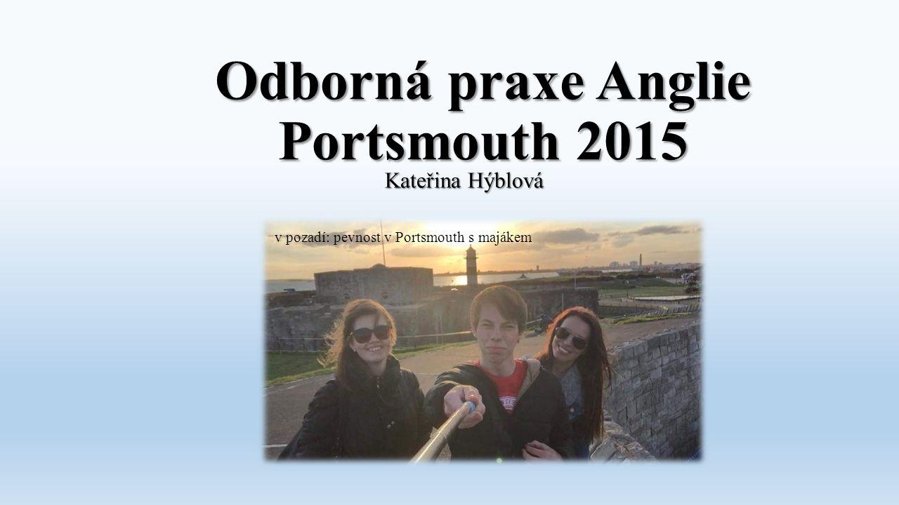 Odborná praxe Anglie Portsmouth 2015