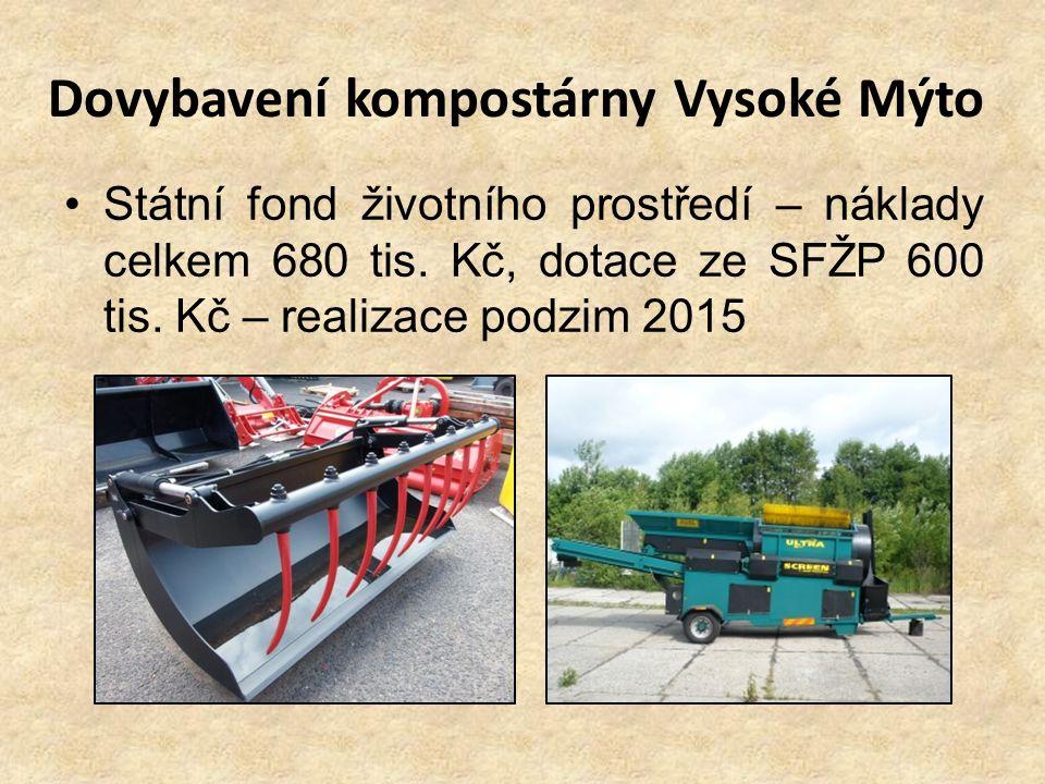 Dovybavení kompostárny Vysoké Mýto