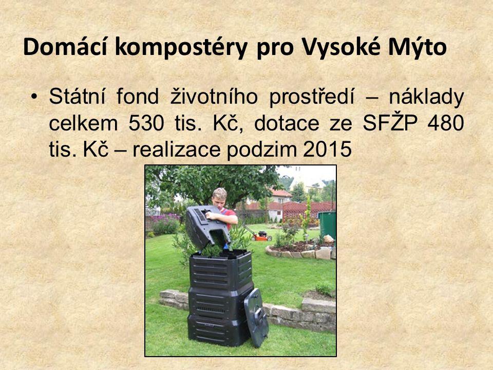 Domácí kompostéry pro Vysoké Mýto