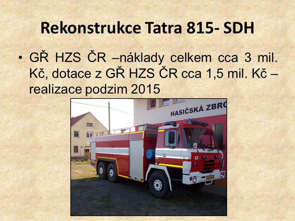 Rekonstrukce Tatra 815- SDH