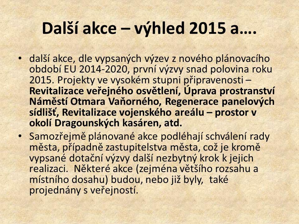 Další akce – výhled 2015 a….