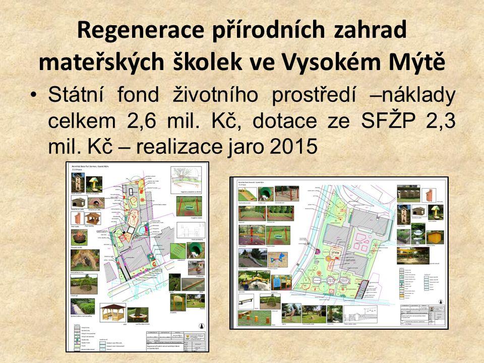 Regenerace přírodních zahrad mateřských školek ve Vysokém Mýtě