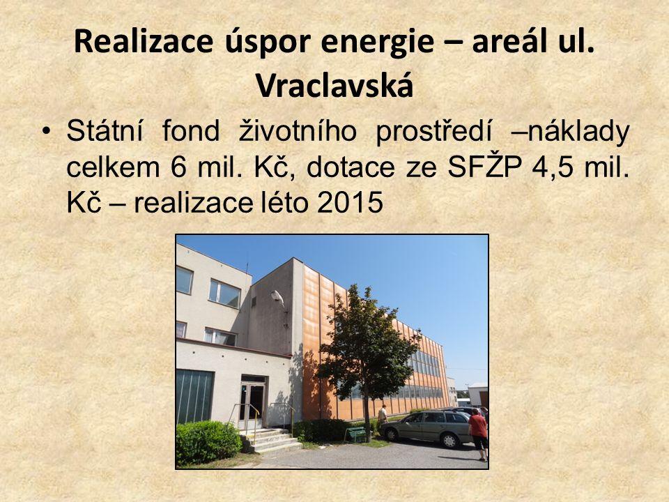 Realizace úspor energie – areál ul. Vraclavská