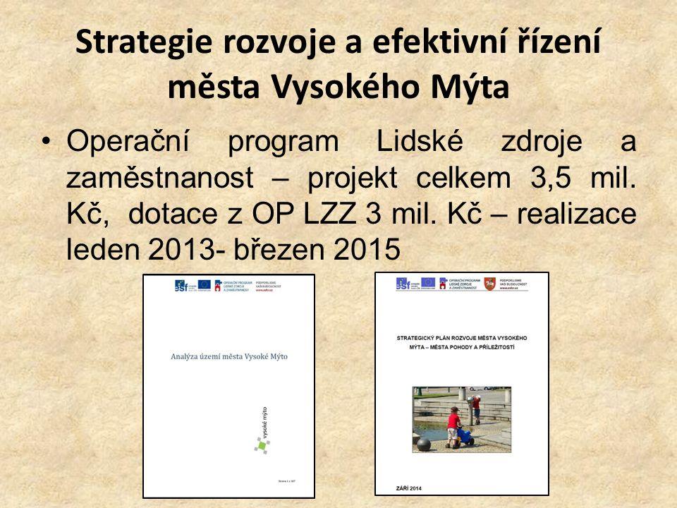 Strategie rozvoje a efektivní řízení města Vysokého Mýta