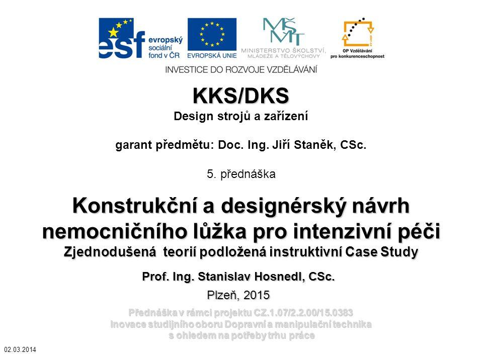 Konstrukční a designérský návrh nemocničního lůžka pro intenzivní péči
