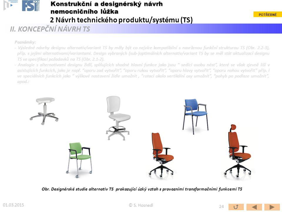 2 Návrh technického produktu/systému (TS) II. KONCEPČNÍ NÁVRH TS