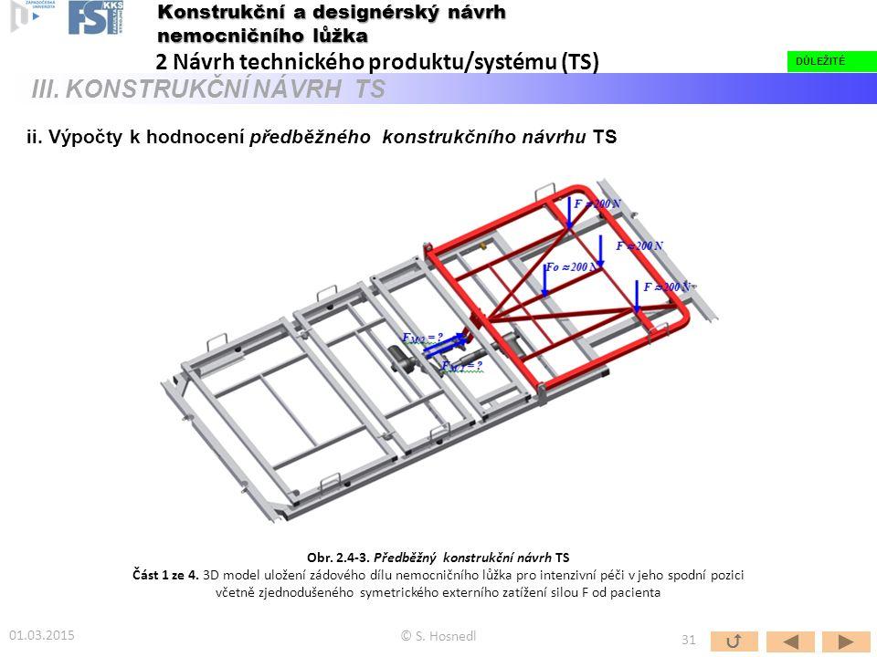Obr. 2.4-3. Předběžný konstrukční návrh TS