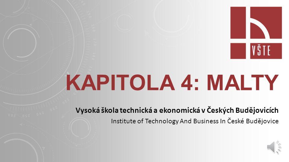 Kapitola 4: malty Vysoká škola technická a ekonomická v Českých Budějovicích.
